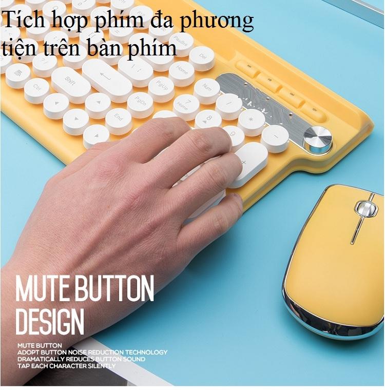 Bộ bàn phím và chuột không dây cao cấp -500 15