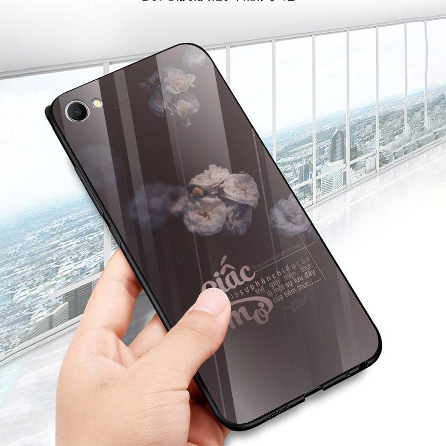 Ốp kính cường lực dành cho điện thoại Oppo F1S/A59 - A71 - A83/A1 - F3/A77 - ngôn tình tâm trạng - tinh2039