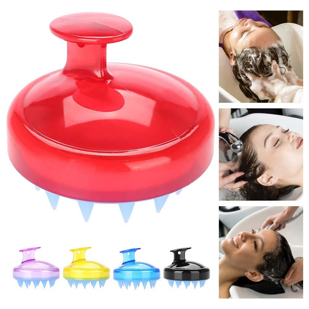 Massage Brush Shampoo Brush Comfortable Silica Gel 4 Color Head Hair