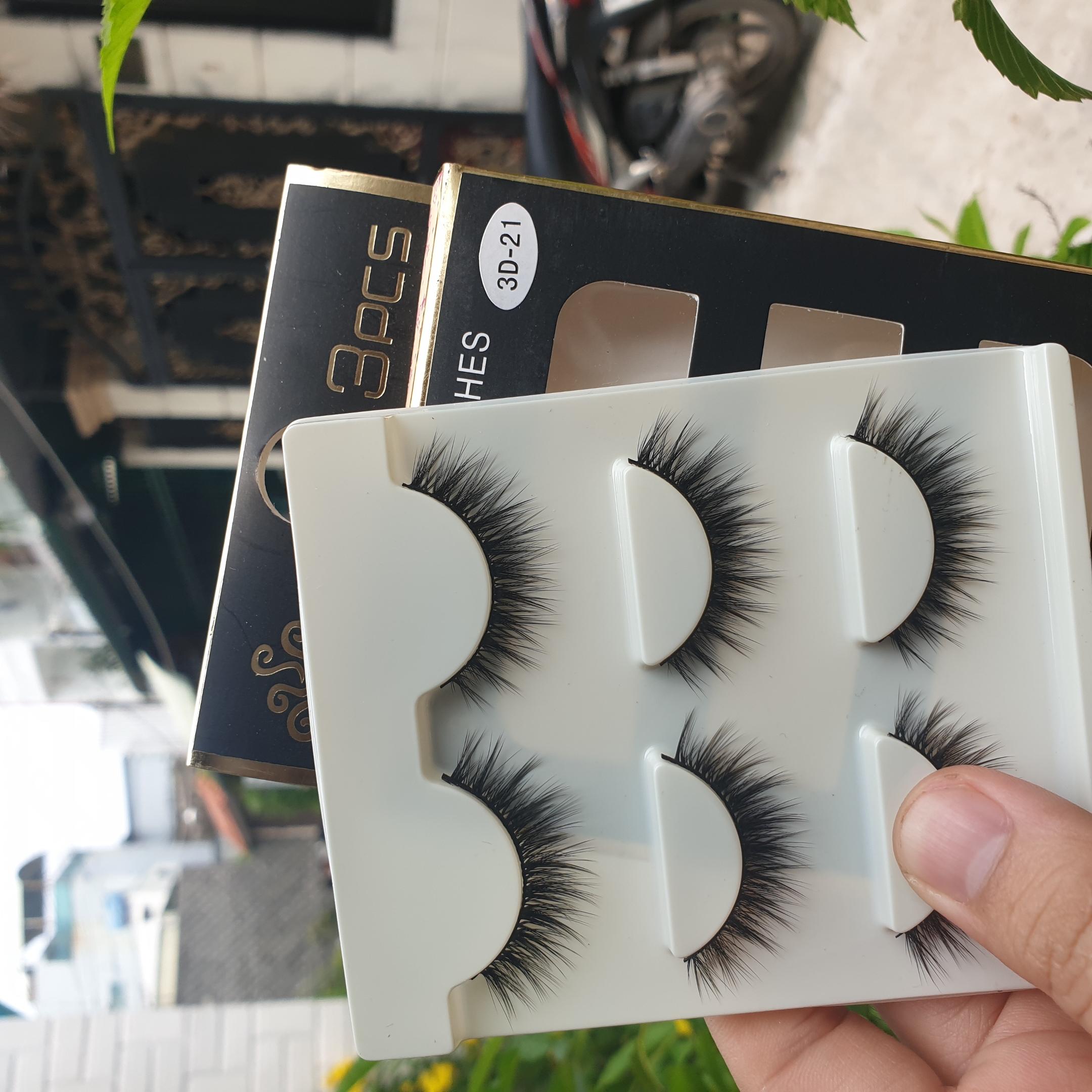 Lông mi giả lông chồn 3 Fashion Eyelashes 3 Faux-Cils 3D 1 bộ 3 cặp 84