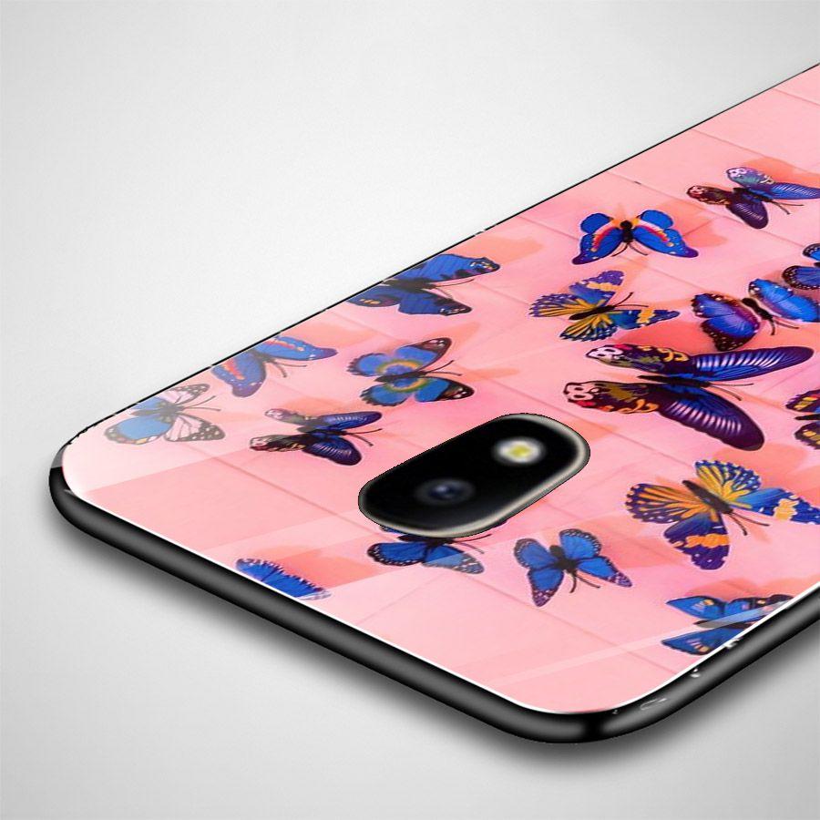 Ốp kính cường lực cho điện thoại Samsung Galaxy J7 - bướm đẹp MS BUOMD031