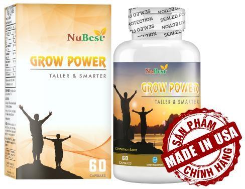 Thực Phẩm Chức Năng Viên Uống Tăng Chiều Cao Grow Power (Hộp 60 Viên)