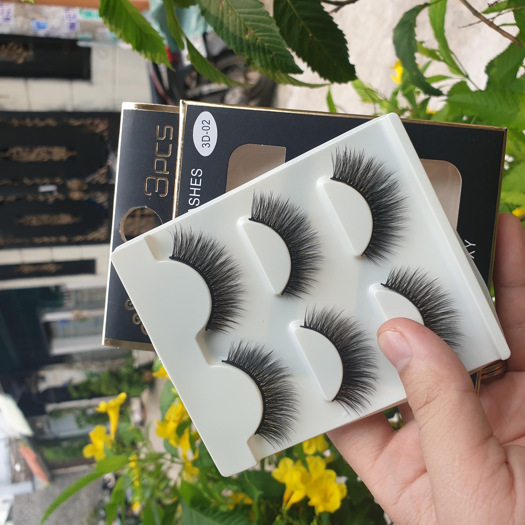 Lông mi giả lông chồn 3 Fashion Eyelashes 3 Faux-Cils 3D 1 bộ 3 cặp 114