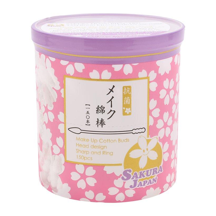 Tăm bông tẩy trang kháng khuẩn Nhật Bản TB07 (Lọ 150 chiếc) 1