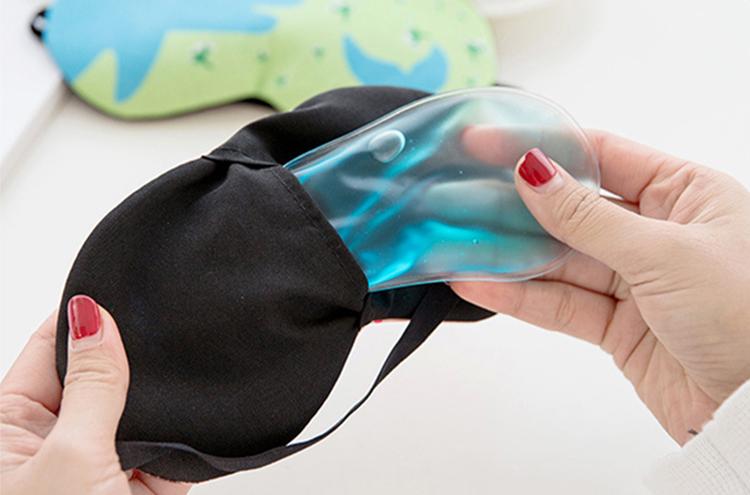 Bịt mắt ngủ kèm túi gel nước (mẫu ngẫu nhiên)