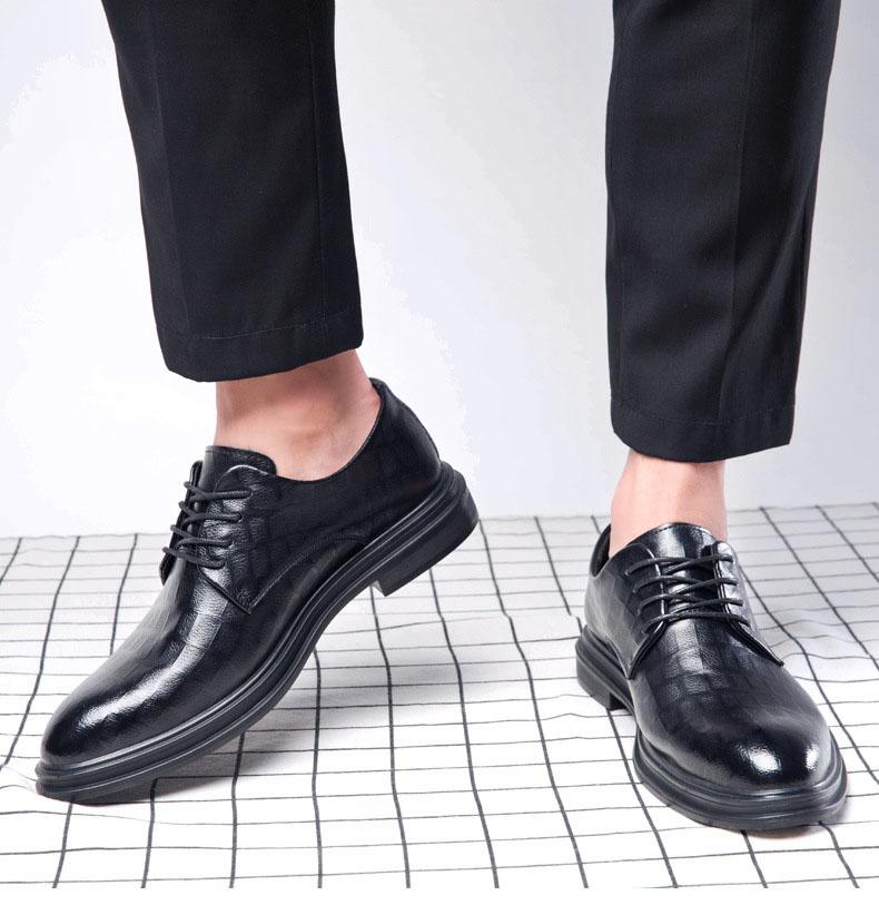 Giày da giày da nam cao cấp độn đế giày tăng chiều cao mã 36800-G đế cao 6cm 3