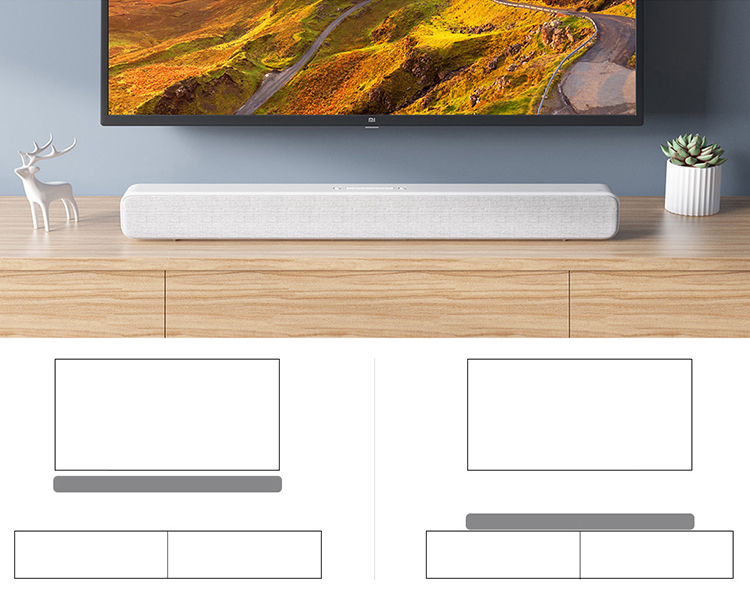 Xiaomi TV Soundbar Speaker BT Soundbar Wired and Wireless TV Audio Support Optical SPDIF AUX Wall Mountable for Home