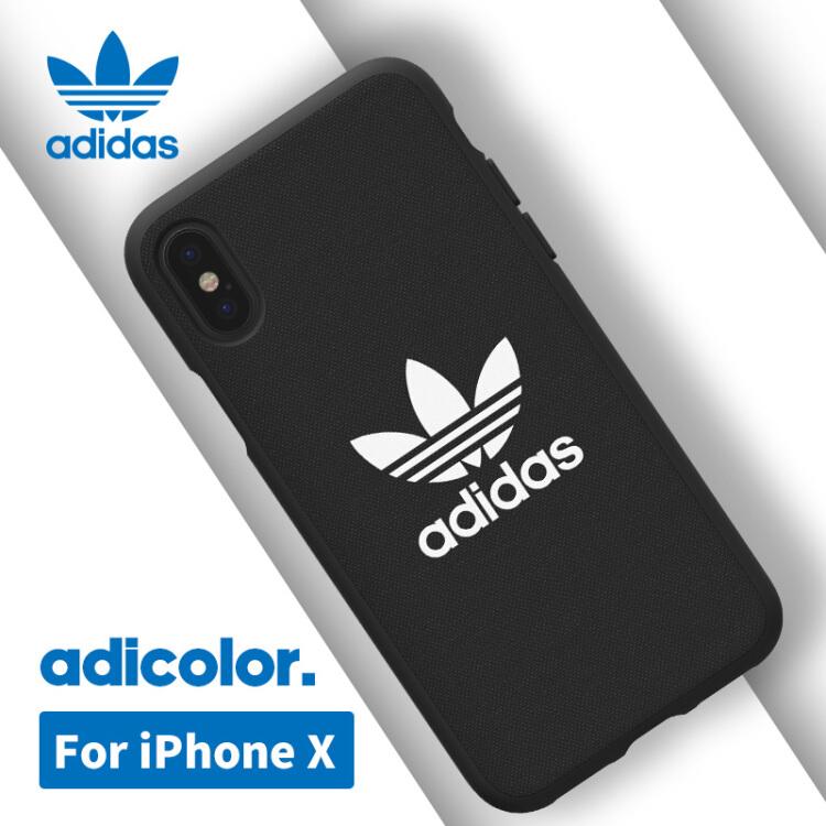 Ốp Lưng Nhựa Dẻo Đơn Giản Dành Cho iPhone X Adidas - Đen