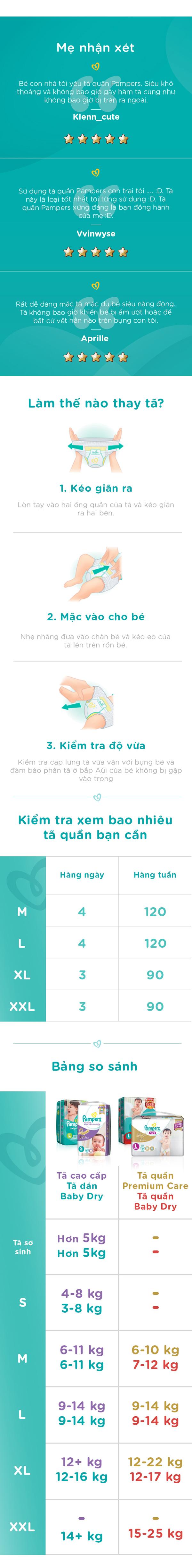 Combo 2 Tã Quần Pampers Tiết Kiệm L36 (36 Miếng / Gói)