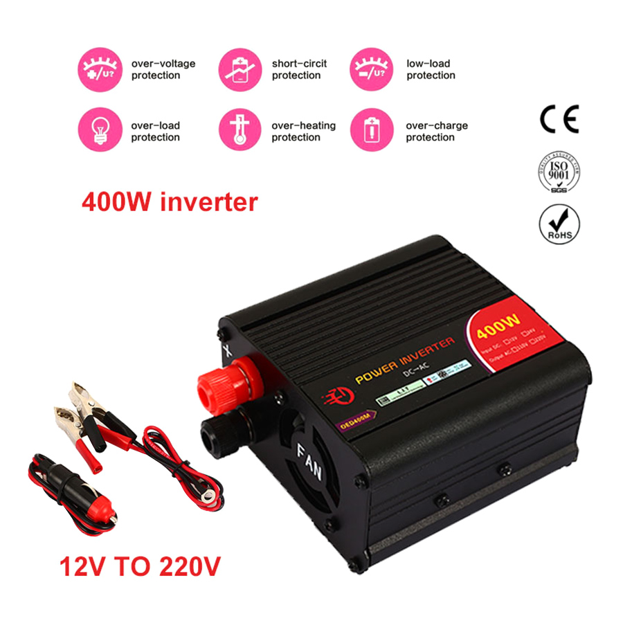 Car Inverter Car Converter Actual 12V To 220V 400W Adapter Automobile