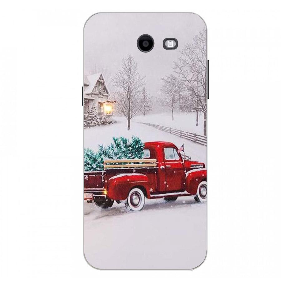 Ốp lưng cứng viền dẻo dành cho điện thoại Samsung Galaxy J3 Prime - giáng sinh đầm ấm MS GSDA017