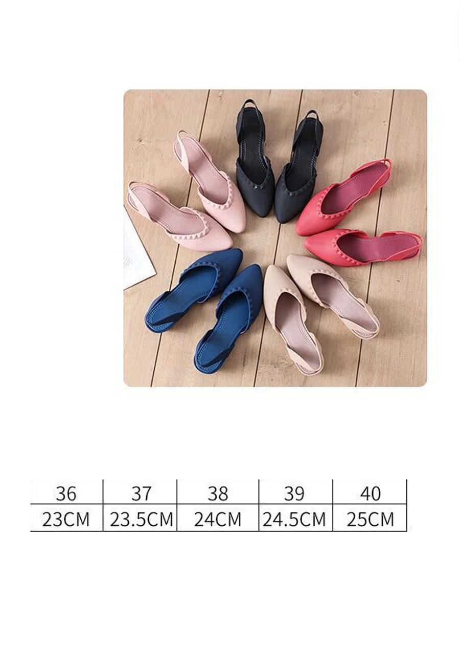 Giày nhựa đi mưa cao 3.5p, xăng đan phong cách Hàn Quốc màu đen, kem, hồng mẫu V192 3