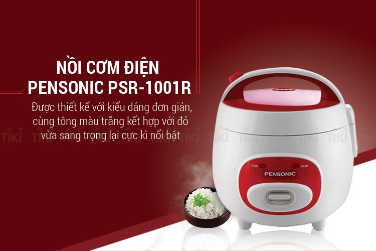 Nồi Cơm Điện Pensonic PSR-1001R (1L) - Trắng Đỏ