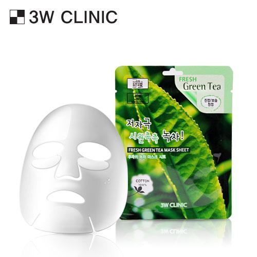 Mặt nạ chiết xuất từ trà xanh 3W CLINIC FRESH GREEN TEA MASK SHEET 1