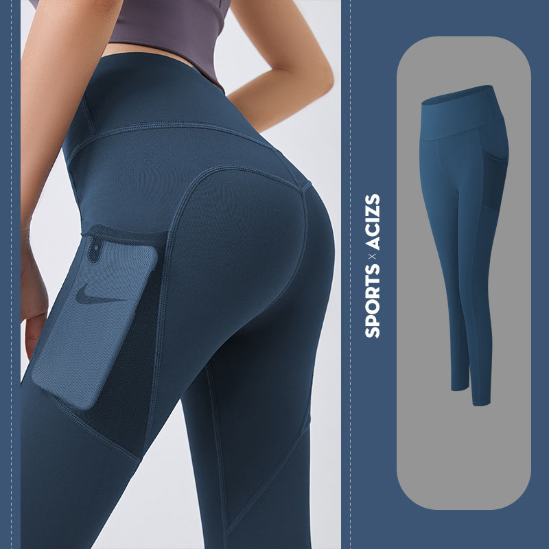 Quần thể thao nữ quần legging co giãn nhanh khô, túi hai bên phối lưới, quần yoga chạy bộ mã MTCK9016 9