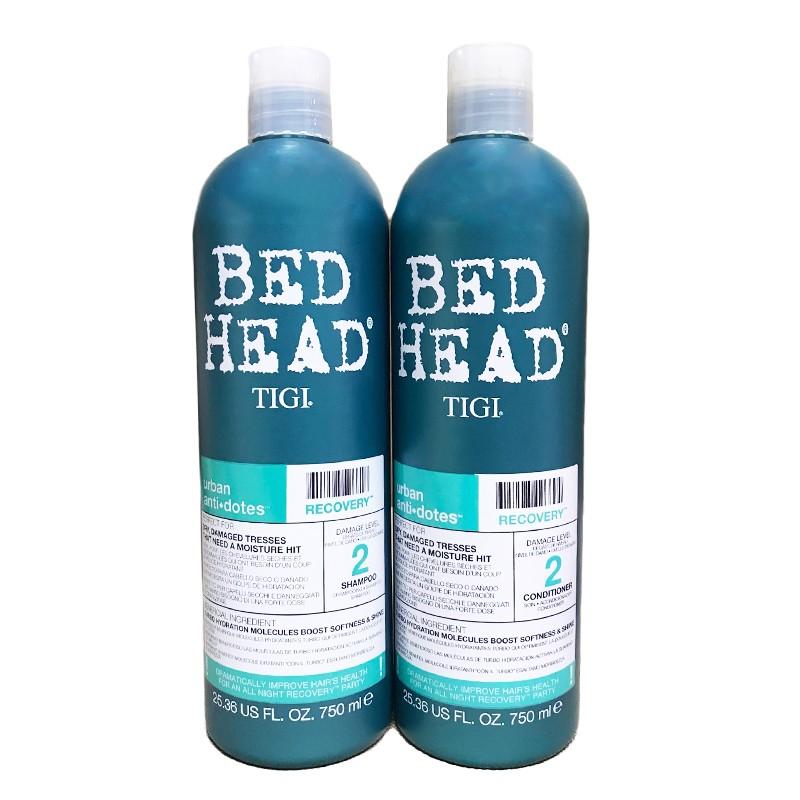 Cặp đôi gội - xả Bed Head Tigi xanh dương số 2 dành cho tóc khô ...