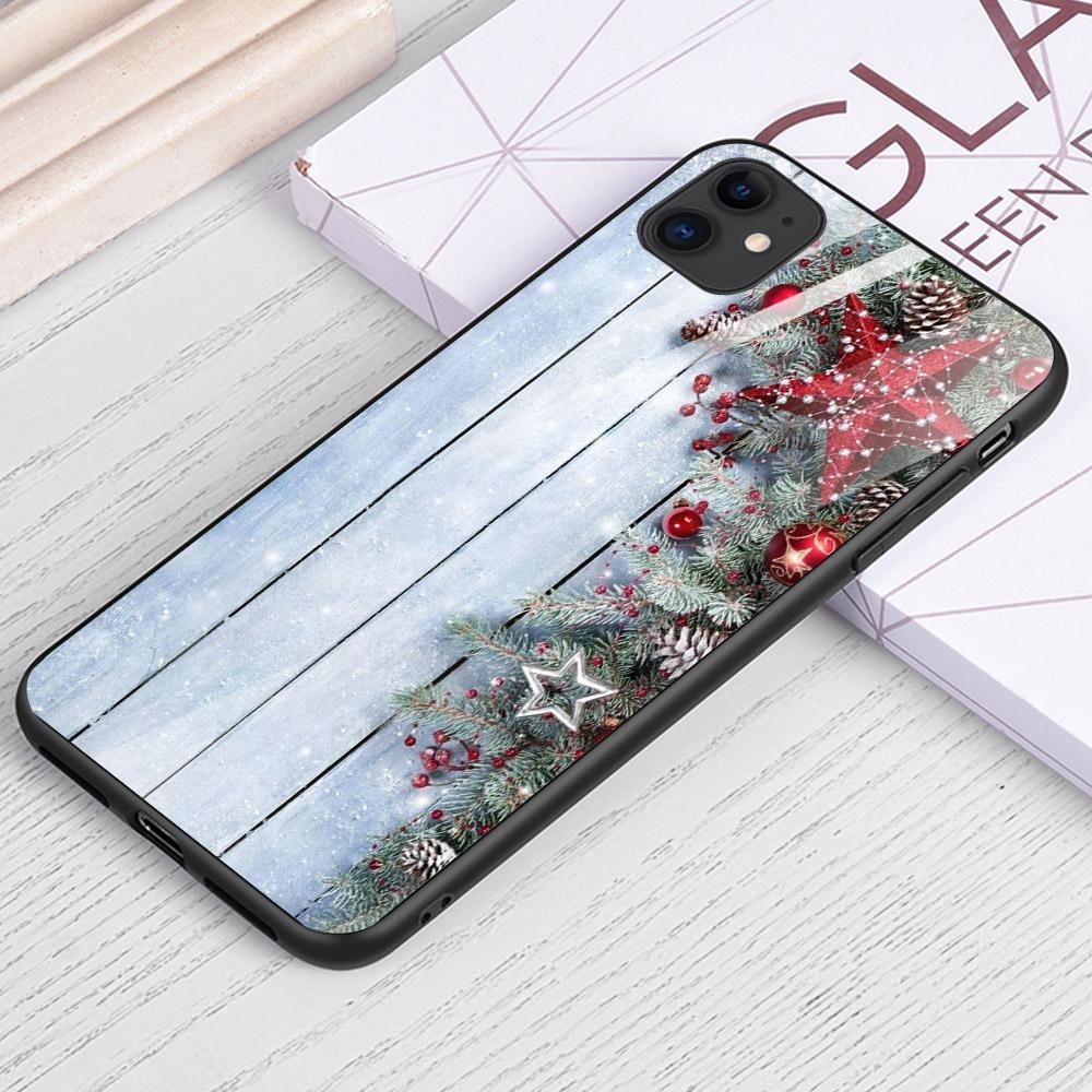 Ốp điện thoại kính cường lực cho máy iPhone 11 - ĐÊM GIÁNG SINH MS DGS024