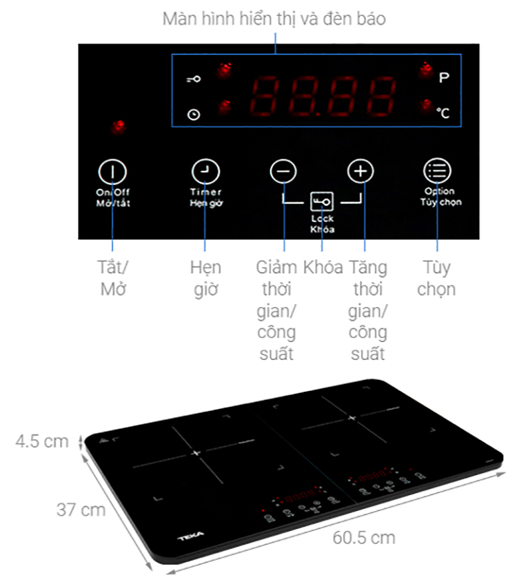 Bếp Từ Dương Đôi Teka DS3502-P (3500W) - Hàng Chính Hãng