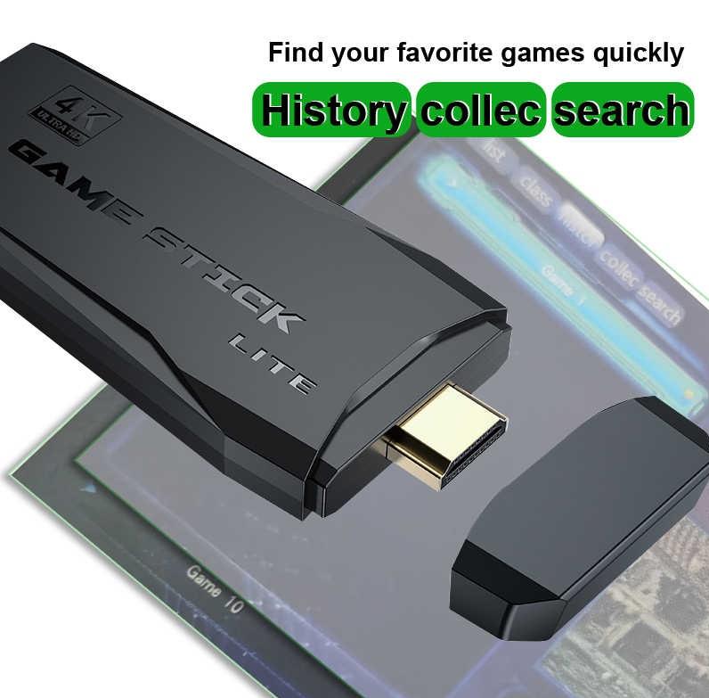 Bộ máy game stick 4K PS3000 tay cầm không dây - Máy chơi game điện tử HDMI hai người chơi kết nối TV 32G 64G Máy chơi game khác tay cầm joystick - Tặng file game đua xe thú. 3