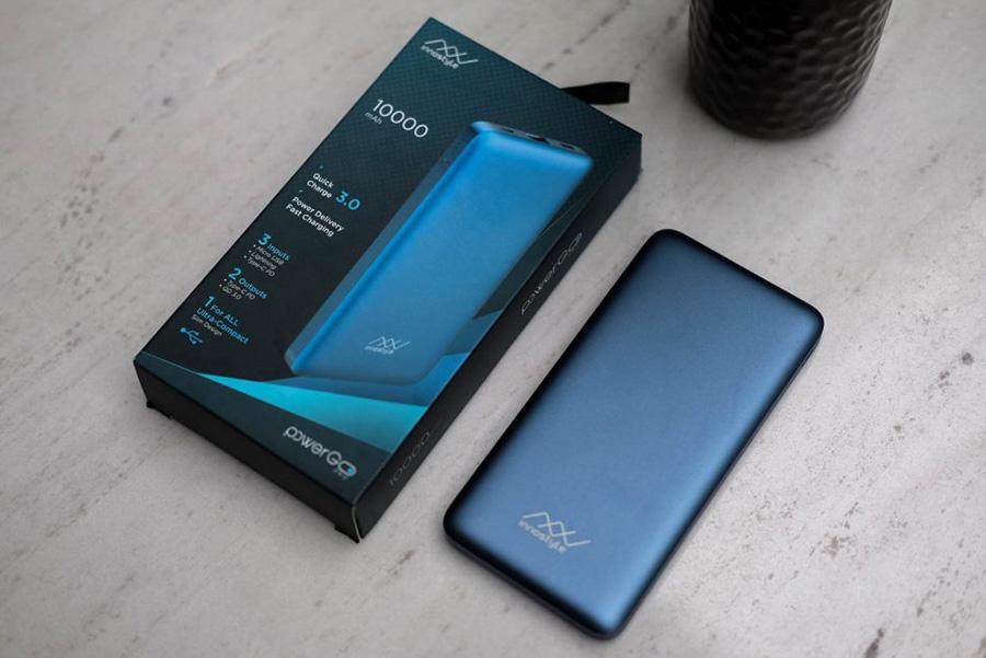 Pin Sạc Dự Phòng Innostyle Powergo Pro 10000MAH (PD 18W + QC3.0 18W) Dark Blue - Hàng Chính Hãng