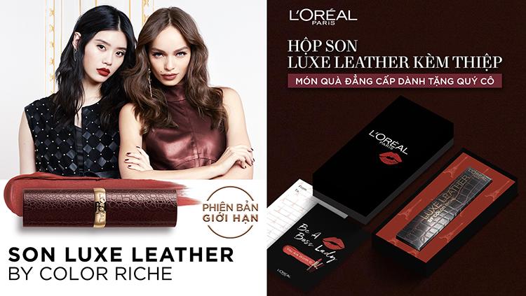 Hộp Quà Son Luxe Leather L'Oreal Paris (3.7g)