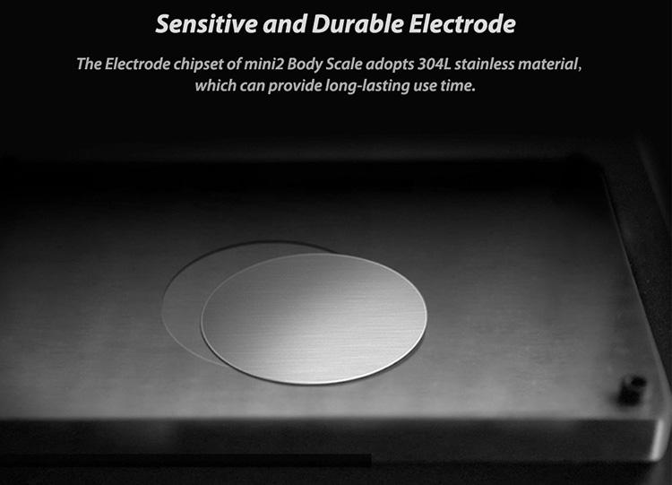 Xiaomi YUNMAI Mini 2 Smart Body Scale Balance Fat Weight Scales APP Control LED Digital Display Big Feet Pad Body Fat