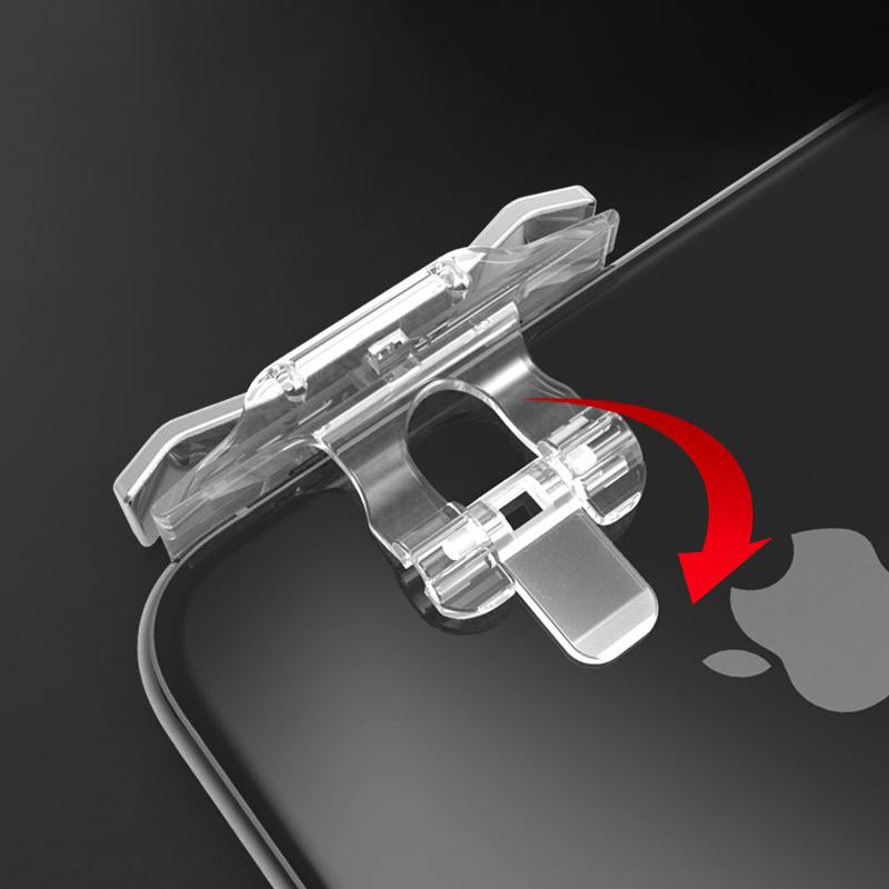 Bộ 2 Nút Chơi Game Pubg Mobile, Ros, Cf Dòng E9 Trong Suốt (Đỏ Hoặc Bạc) 5