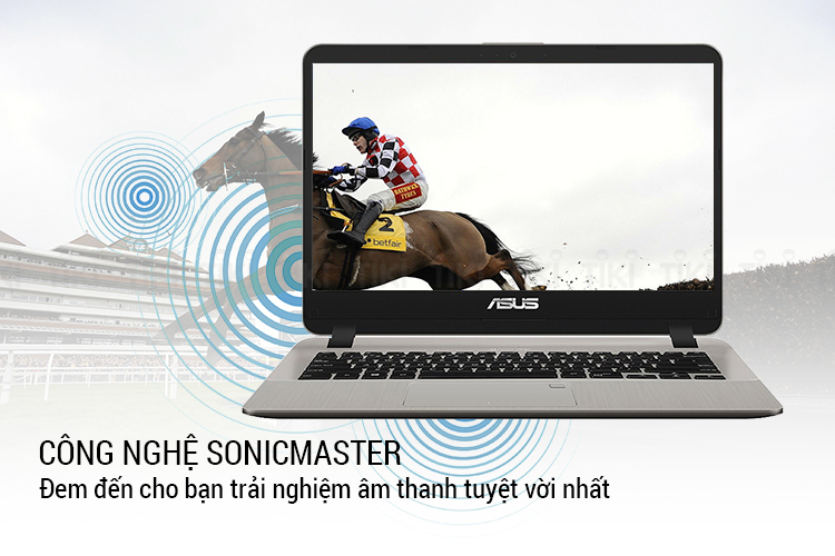 Laptop Asus Vivobook X407UB-BV146T Core i5-8250U/Win10 (14 inch) (Star Grey) - Hàng Chính Hãng