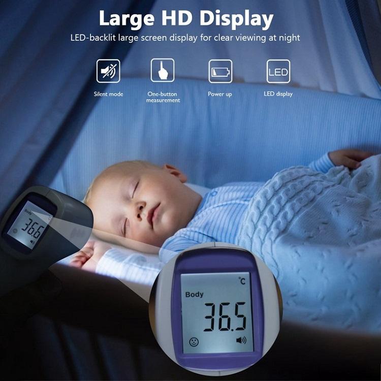 Nhiệt kế hồng ngoại đo nhiệt độ không tiếp xúc - 2 chế độ đo nhiệt độ, đo nhiệt độ cơ thể và nhiệt độ bề mặt hoặc dung dịch 5