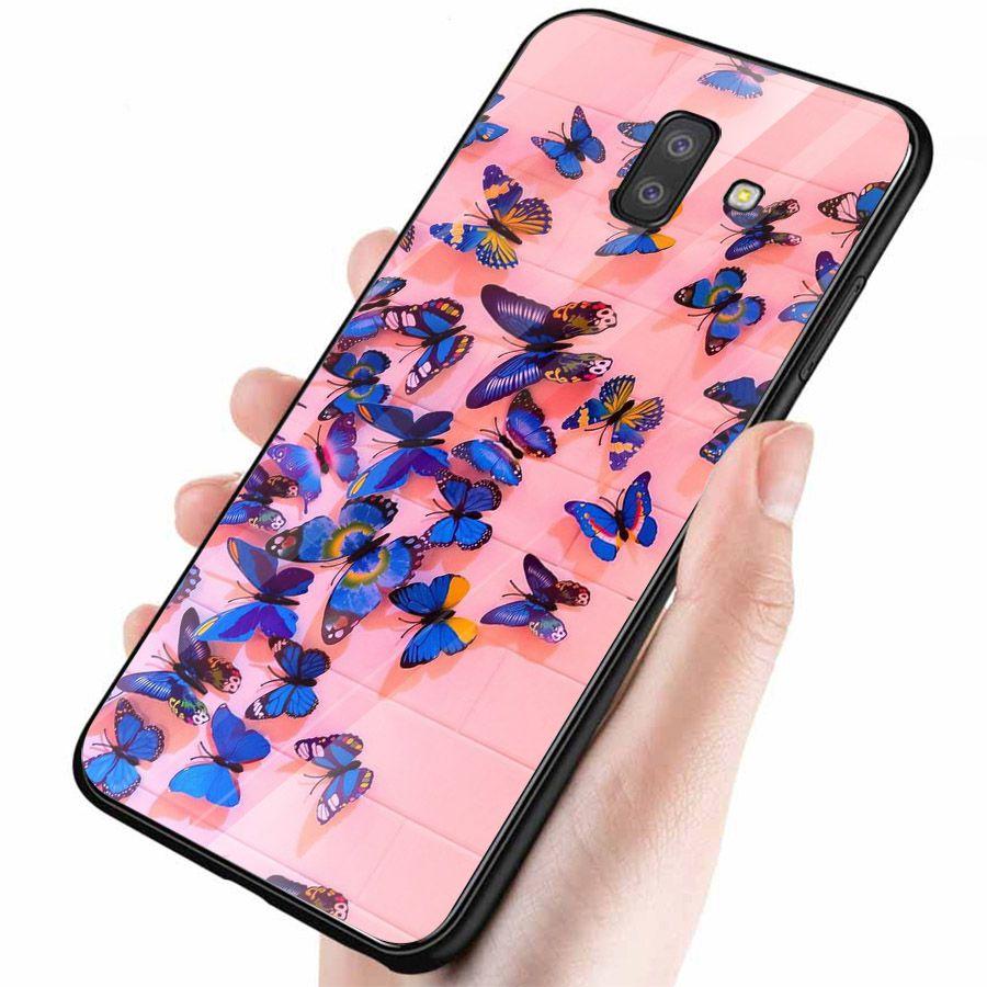 Ốp kính cường lực cho điện thoại Samsung Galaxy J4 - J6 - J6 PLUS - J6 PRIME - J8 - bướm đẹp MS ANH031