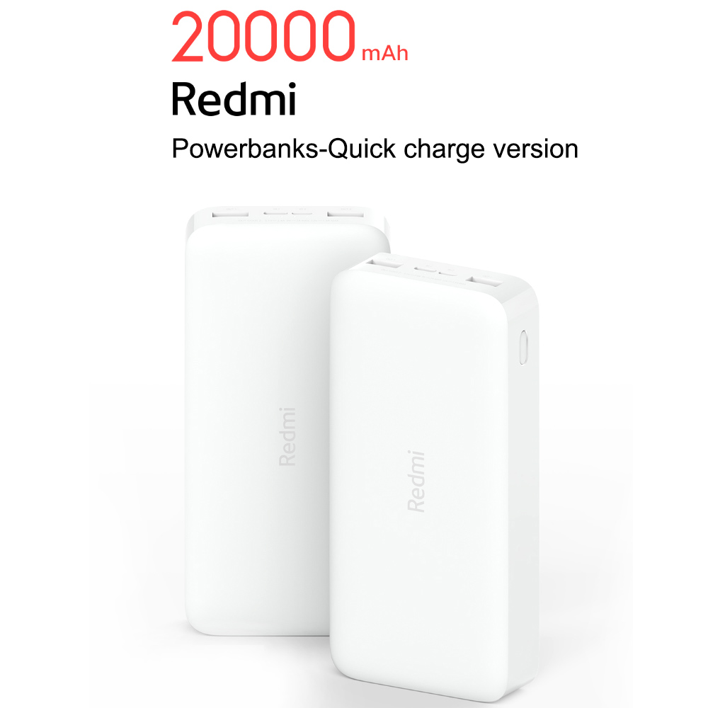 Redmi Charger Dual USB Power Adapter 20000mAh Powerbanks Fast Charge Portable Power-Bank for Mobile Phone