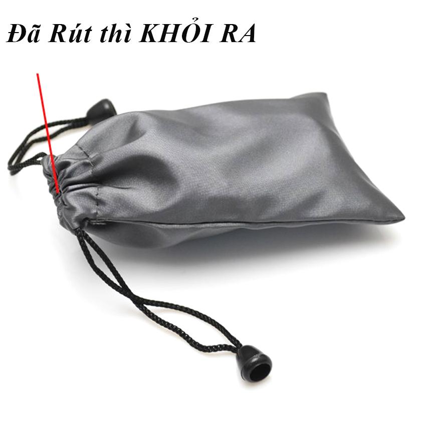 Túi rút đựng tai nghe cáp sạc 15x10 cm