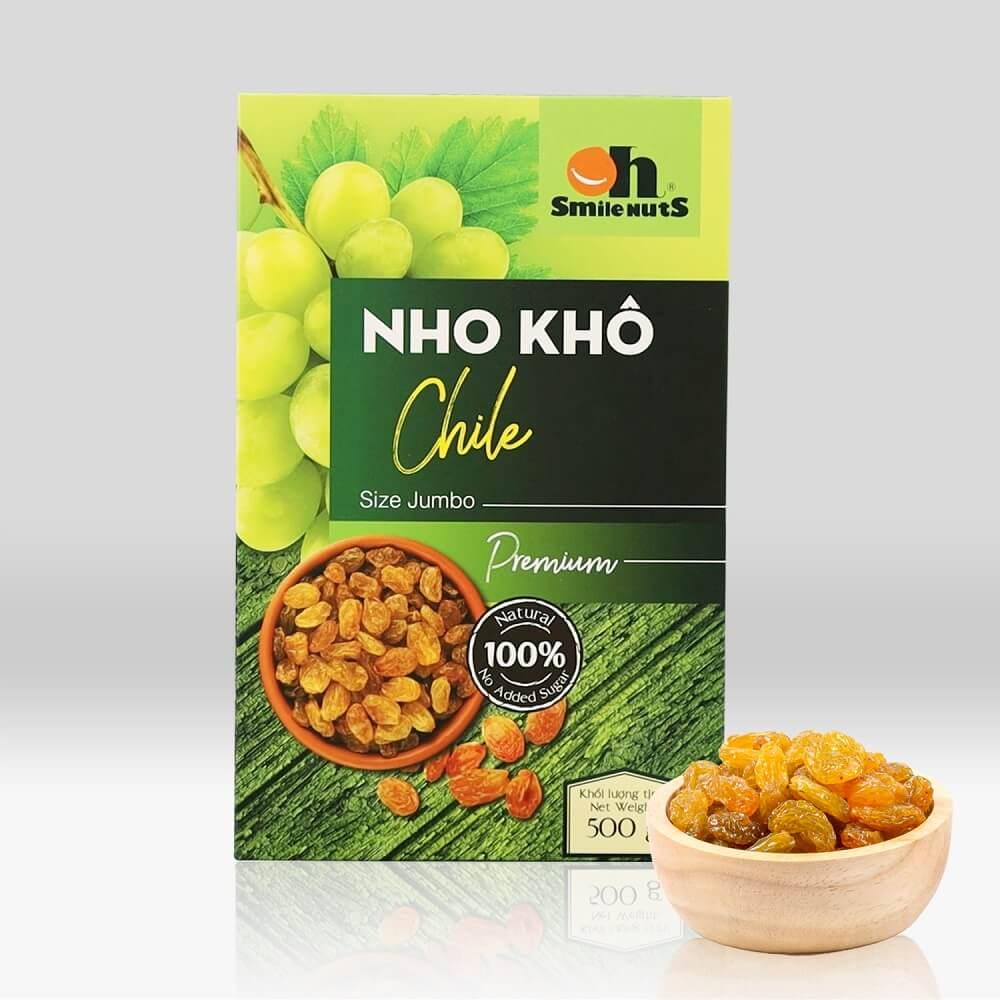 Hộp nho khô vàng Chile Smile Nuts 500g