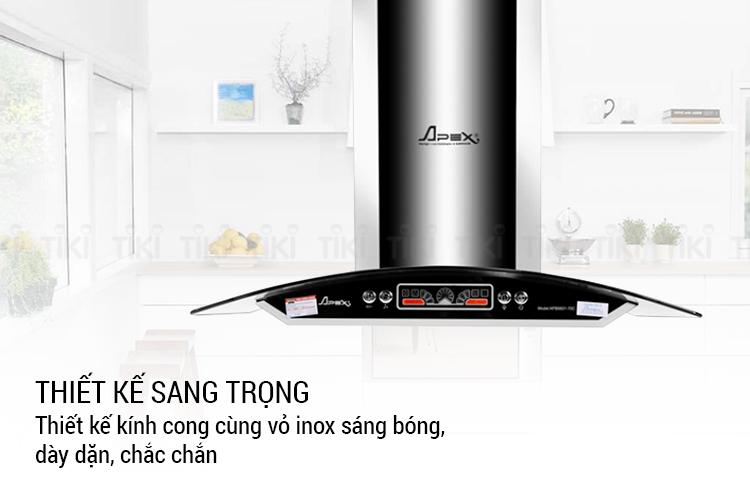 Máy hút mùi kính cong Sunhouse Apex APB6601-70C - Hàng chính hãng