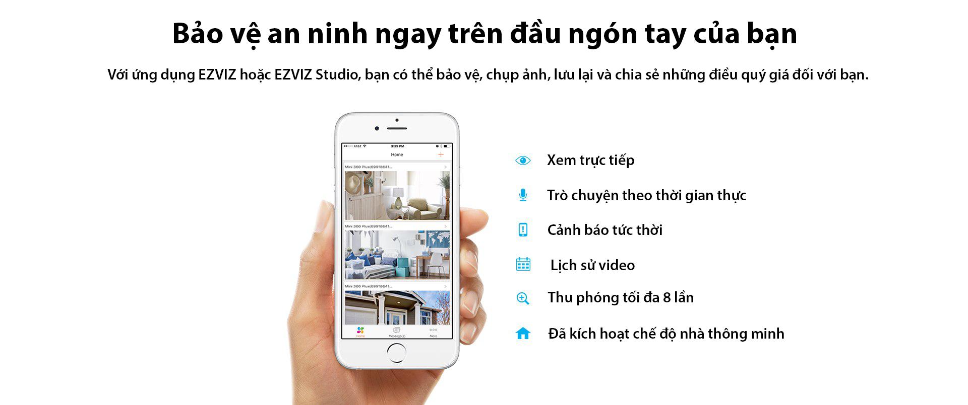 Camera IP Wifi EZVIZ C3W 720P có đèn còi - đàm thoại 2 chiều - hàng nhập khẩu 11