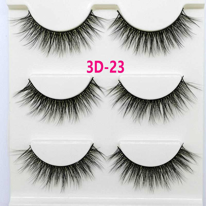 Lông mi giả lông chồn 3 Fashion Eyelashes 3 Faux-Cils 3D 1 bộ 3 cặp 90
