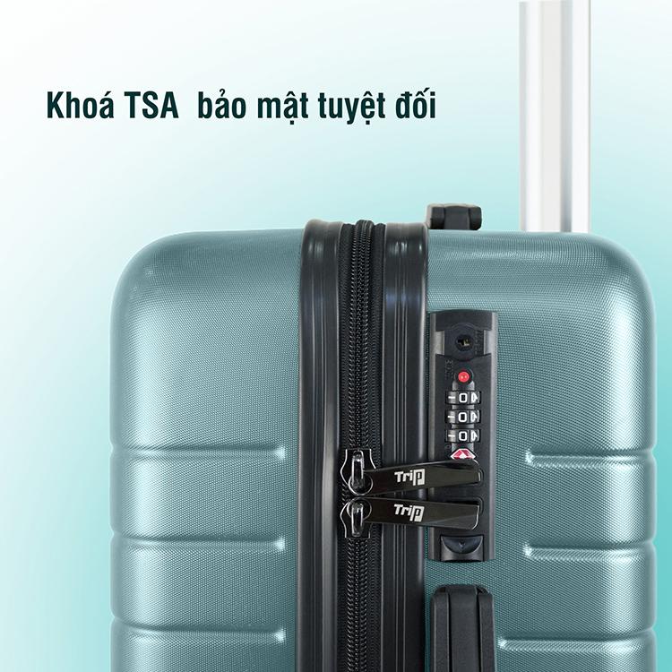 Vali Chống Trộm TRIP PC911 (Size 70cm) - Xanh Ngọc