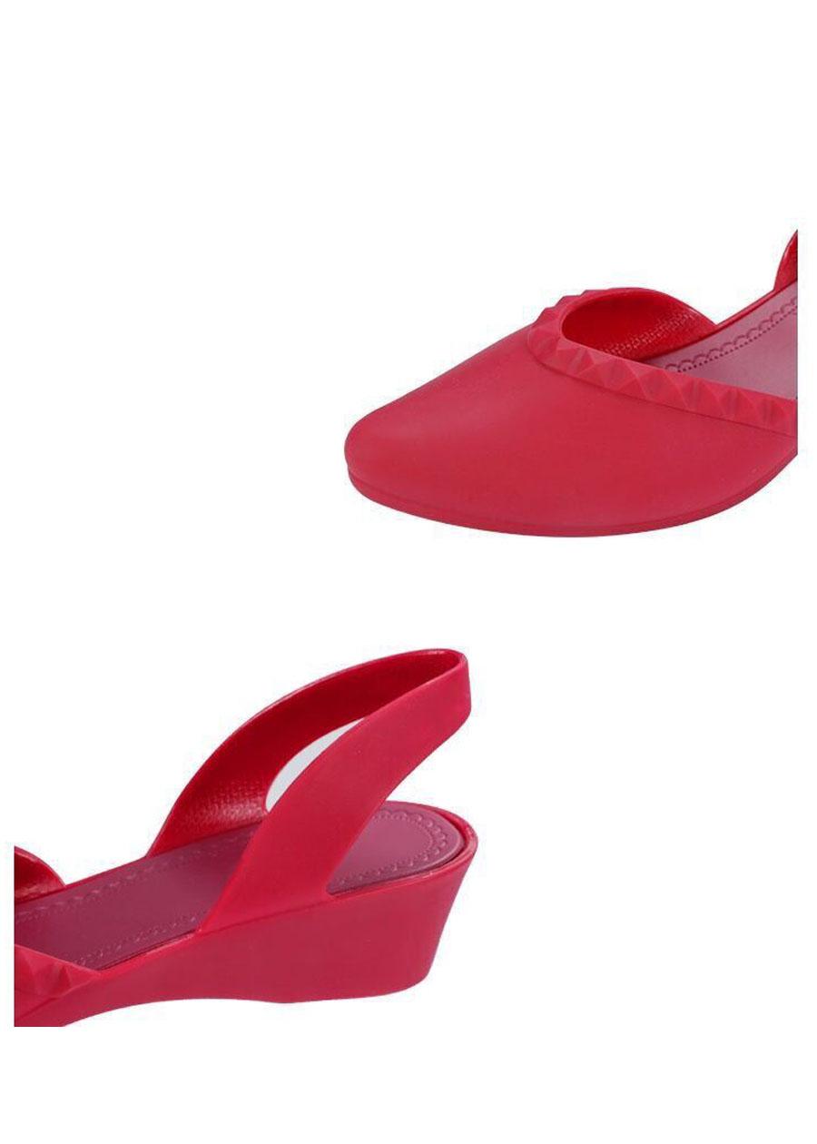 Giày nhựa đi mưa cao 3.5p, xăng đan phong cách Hàn Quốc màu đen, kem, hồng mẫu V192 2
