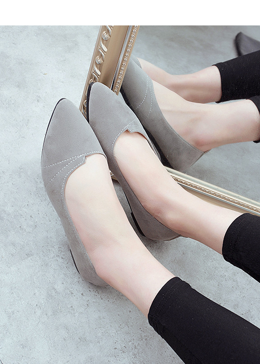 Giày đế bằng búp bê nữ da lộn full size nhiều màu V215 2