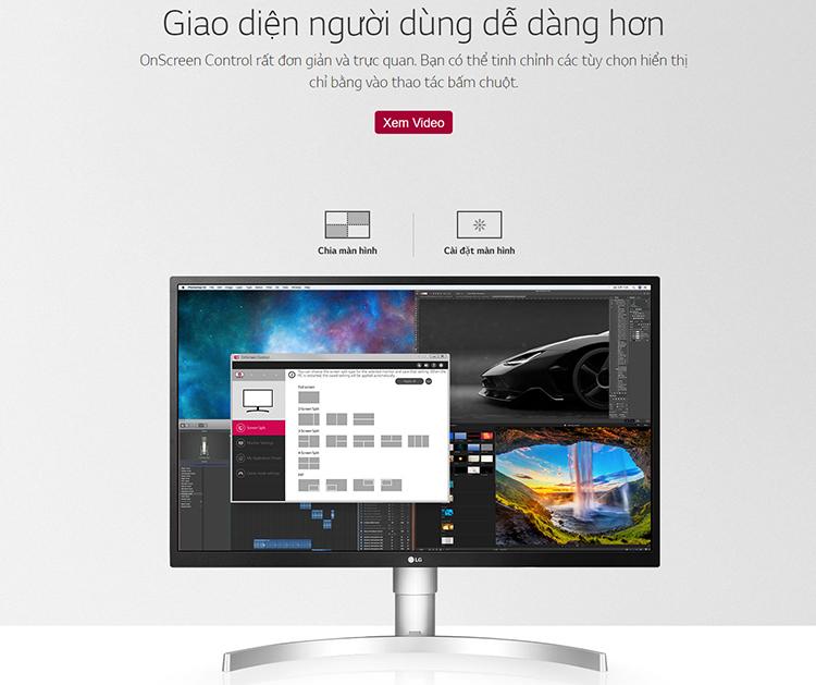 Màn hình LG 27UL550-W 4K UHD FreeSync