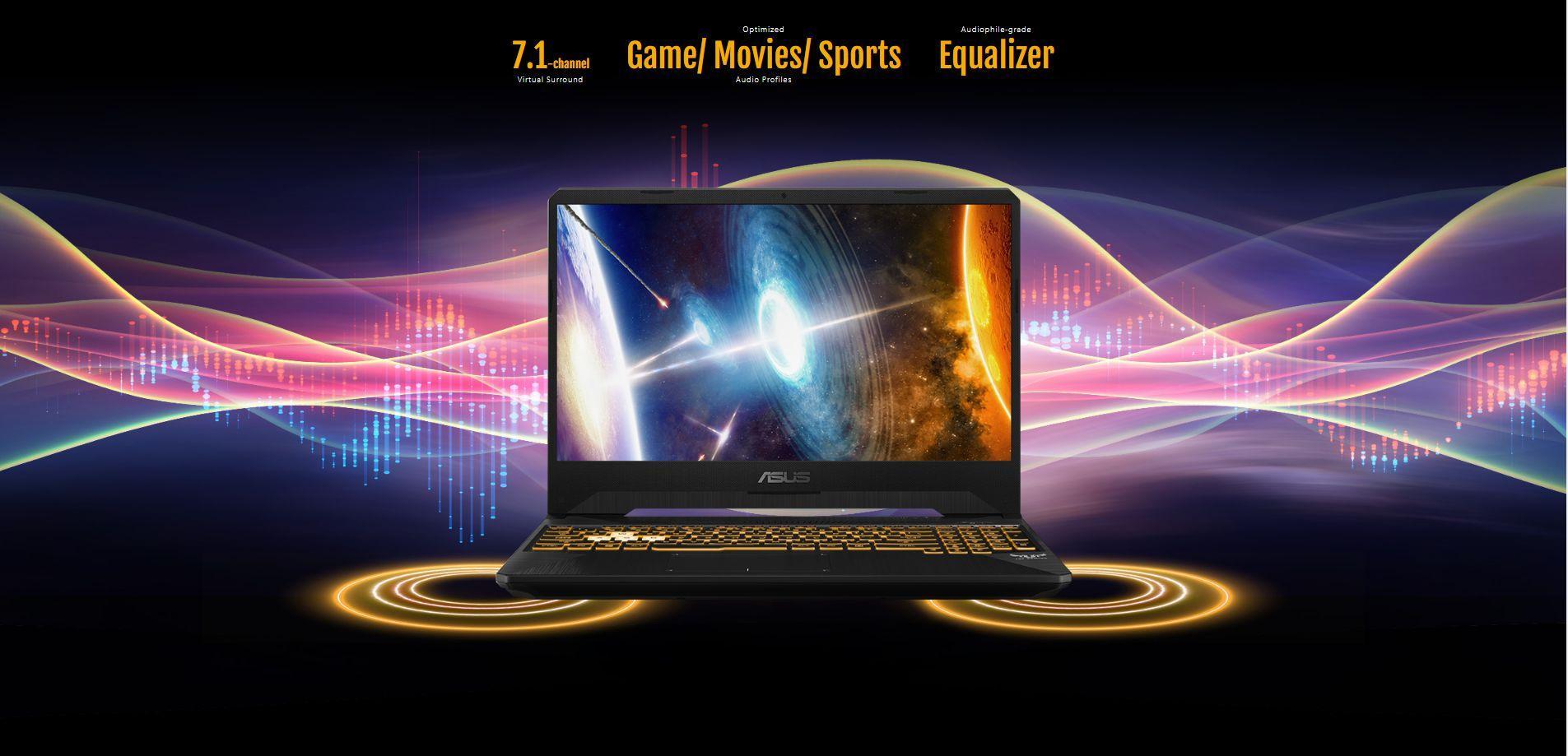 """Laptop Asus TUF Gaming FX505DU-AL070T AMD R7-3750H/ GTX 1660Ti 6GB/ Win10 (15.6"""" FHD IPS 120Hz) - Hàng Chính Hãng"""