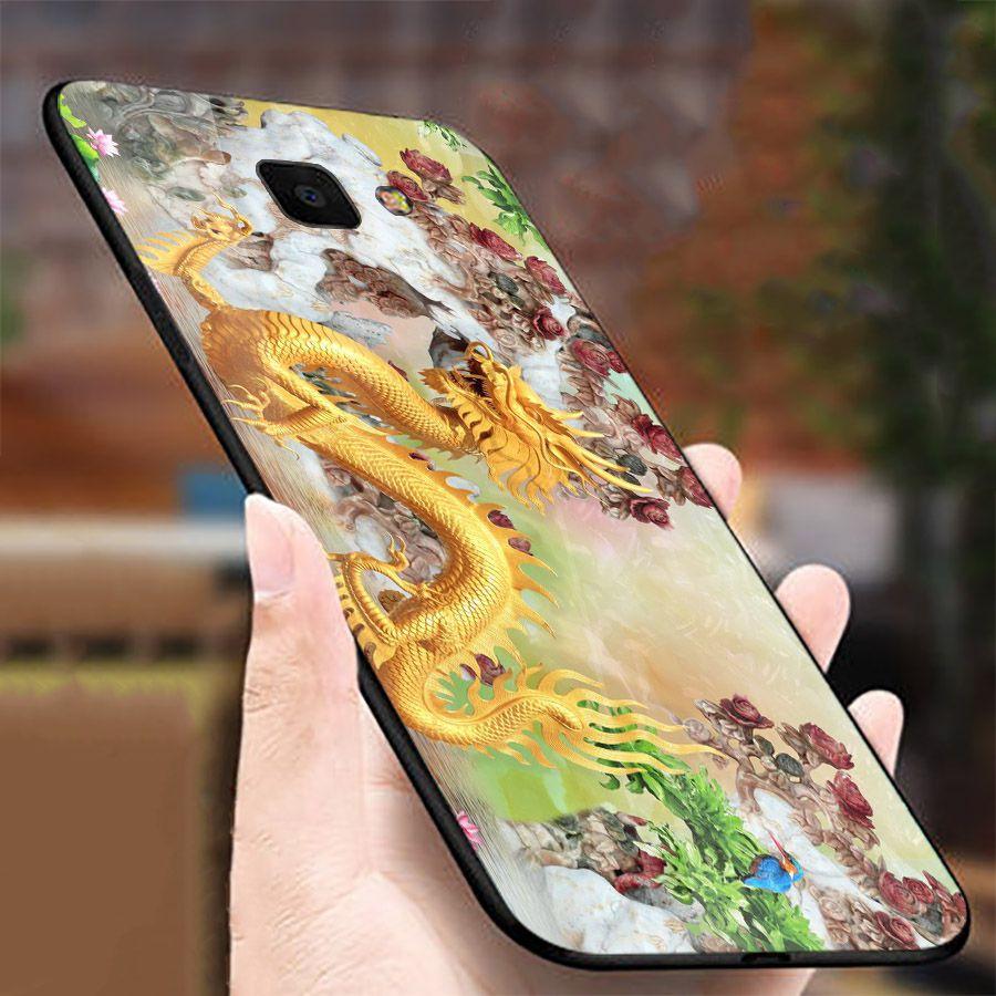 Ốp kính cường lực cho điện thoại Samsung Galaxy A7 2018/A750 - A10/M10 - A50 - A70 - long phượng MS TRANH 006