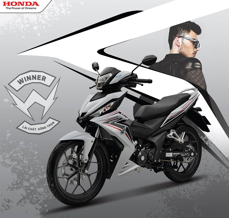 Xe Máy Honda Winner 150cc (Phiên Bản Thể Thao) - Trắng