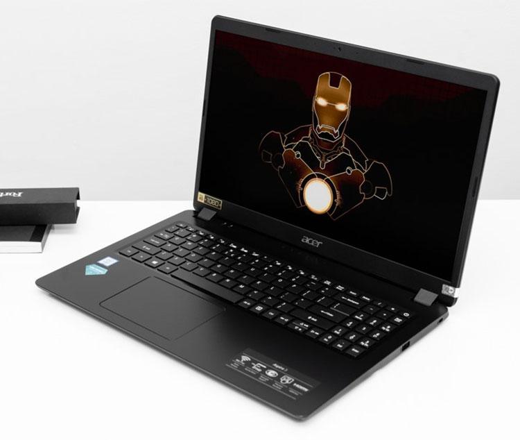 Laptop Acer Aspire 3 A315-54-52HT NX.HM2SV.002 (Core i5-10210U/ 4GB DDR4 2133MHz Onboard/ 256GB SSD M.2 PCIE/ 15.6 FHD/ Win10) - Hàng Chính Hãng