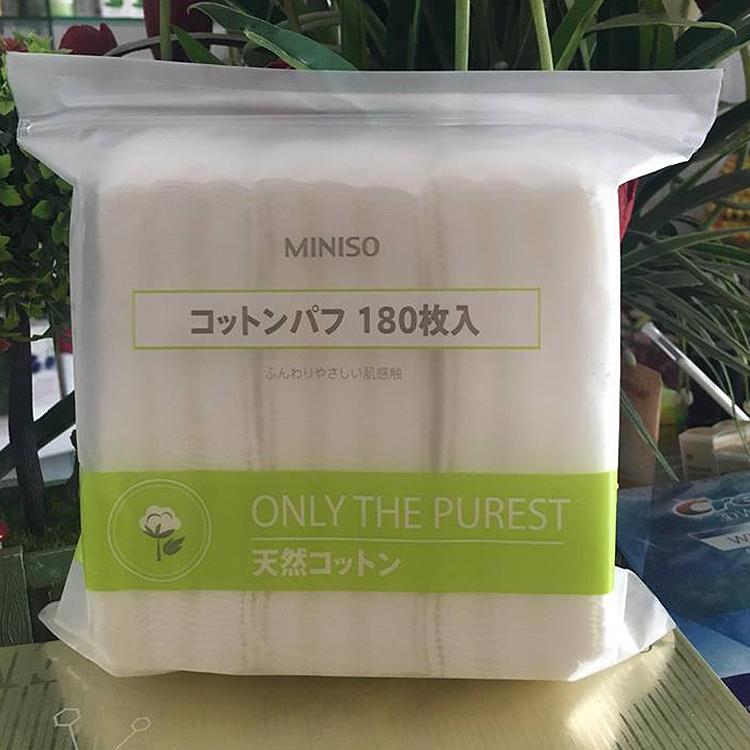 Bông tẩy trang MINISO 180 miếng P001447 5