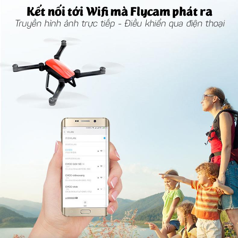 Máy bay gấp gọn Flycam SkyHunter X9 quay phim chụp ảnh full-HD 1080p pin 1200mAh xem trực tiếp trên điện thoại gia dụng aloma