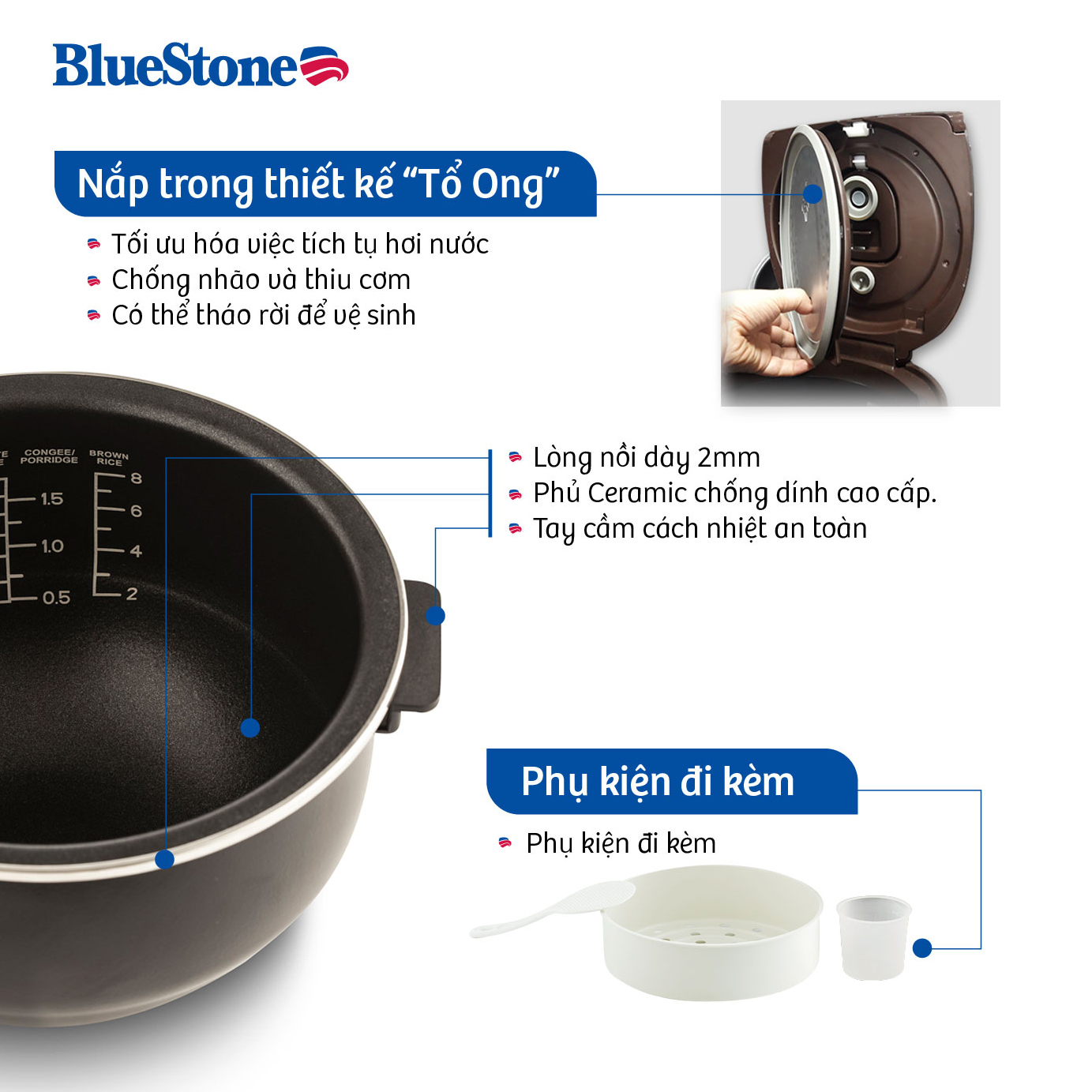Nồi Cơm Cao Tần Bluestone RCB-5987 (1.5L)