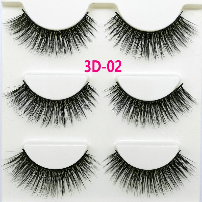 Lông mi giả lông chồn 3 Fashion Eyelashes 3 Faux-Cils 3D 1 bộ 3 cặp 8