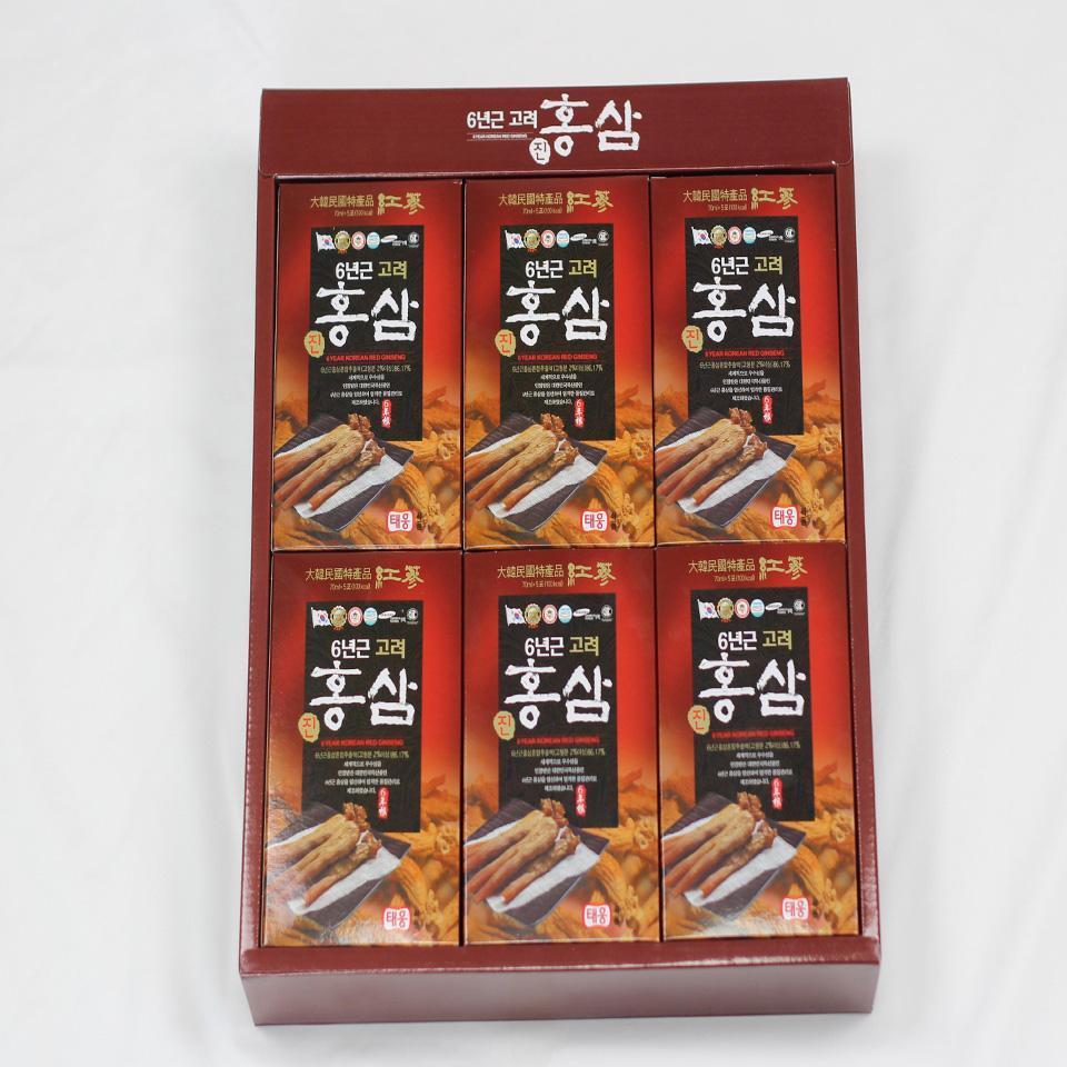 Thư c phâ m bô sung nước uô ng hồng sâm 6 tuô i Taewoong Food Ha n Quô c (Hộp 30 gói) 2