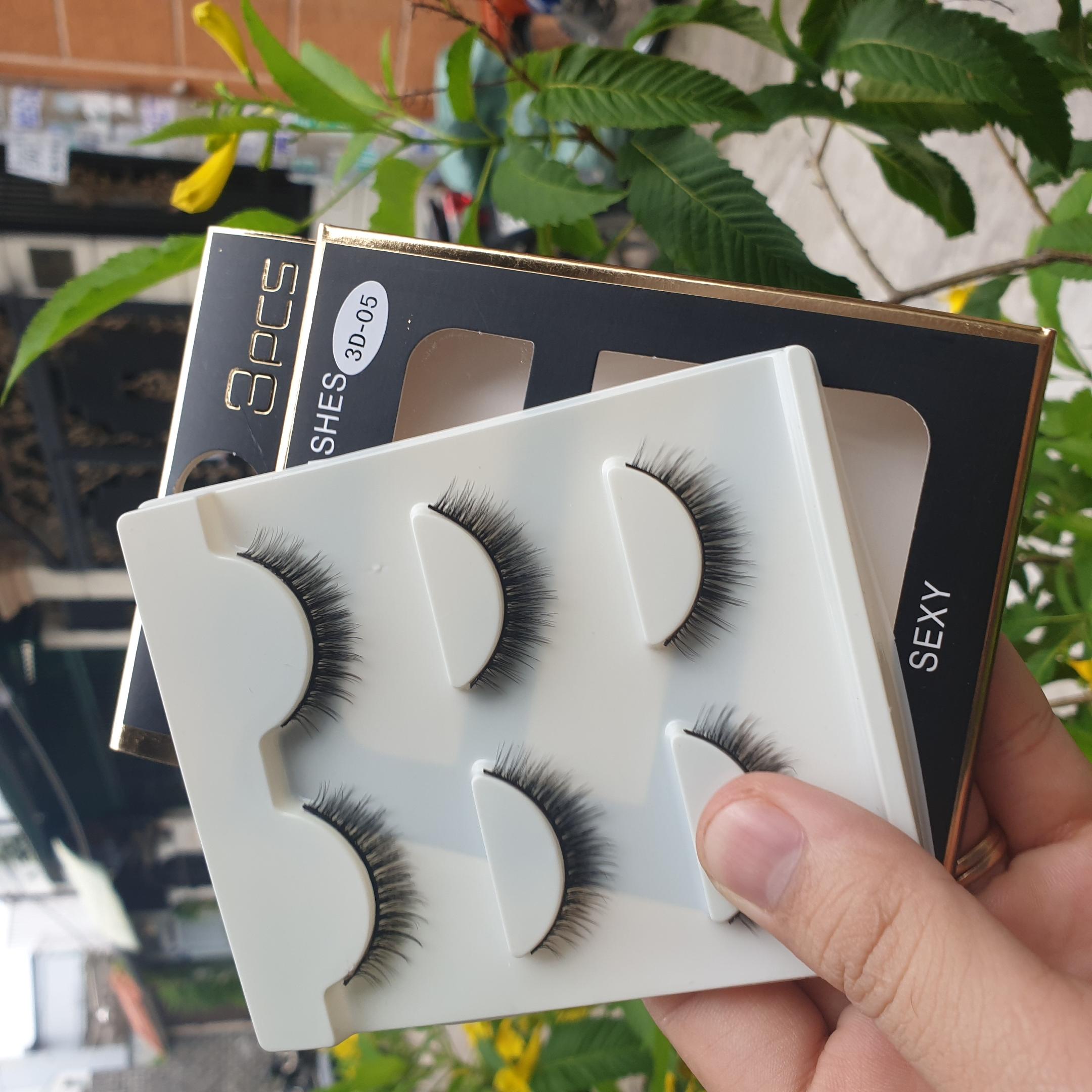 Lông mi giả lông chồn 3 Fashion Eyelashes 3 Faux-Cils 3D 1 bộ 3 cặp 20